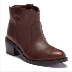 Jeffrey Campbell Brown Leather Konda Boots